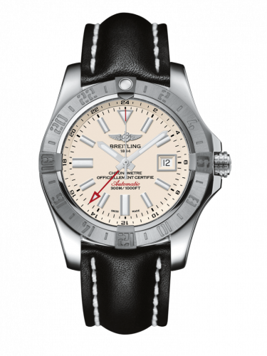 Avenger II GMT Stainless Steel / Stratus Silver / Calf / Pin