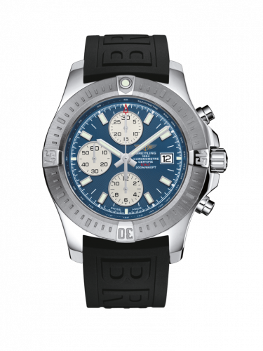 Colt Chronograph Automatic Stainless Steel / Mariner Blue / Rubber / Folding