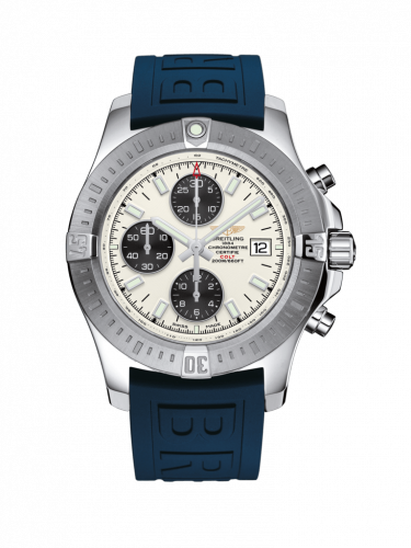 Colt Chronograph Automatic Stainless Steel / Stratus Silver / Rubber / Pin