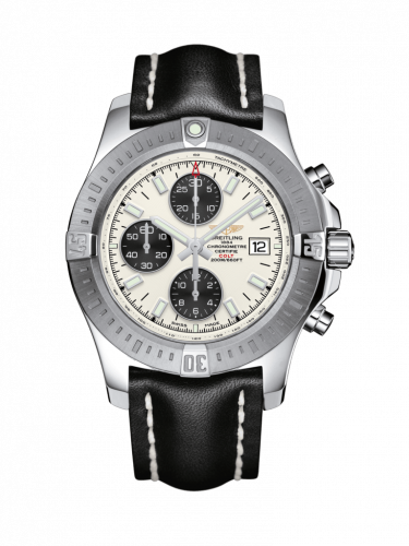 Colt Chronograph Automatic Stainless Steel / Stratus Silver / Calf / Folding