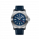 Avenger Automatic GMT 45 Stainless Steel / Blue / Military / Pin