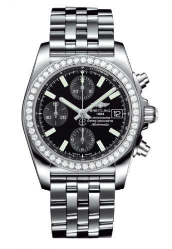 Chronomat 38 SleekT Stainless Steel / Diamond / Black / Bracelet