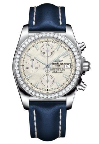 Chronomat 38 SleekT Stainless Steel / Diamond / MOP / Calf