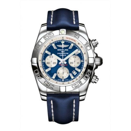 Chronomat 44 Stainless Steel / Blue / Calf / Pin