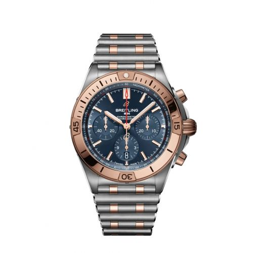 Chronomat B01 42 Stainless Steel / Red Gold / Blue / Rouleaux