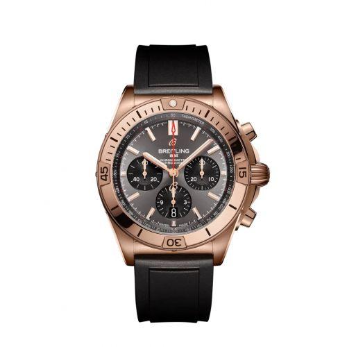 Chronomat B01 42 Red Gold / Anthracite / Rubber