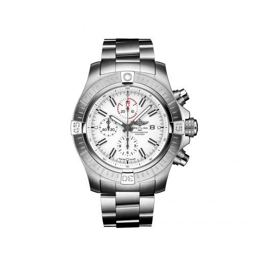 Avenger Chronograph 48 Stainless Steel / White / Bracelet