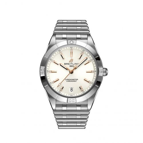Chronomat Automatic 36 Stainless Steel / White - Diamond / Rouleaux