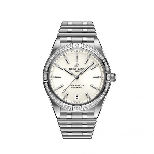 Chronomat Automatic 36 Stainless Steel - Diamond / White / Rouleaux