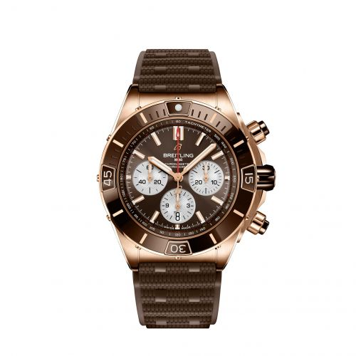 Super Chronomat B01 44 Red Gold / Brown / Rubber Rouleaux