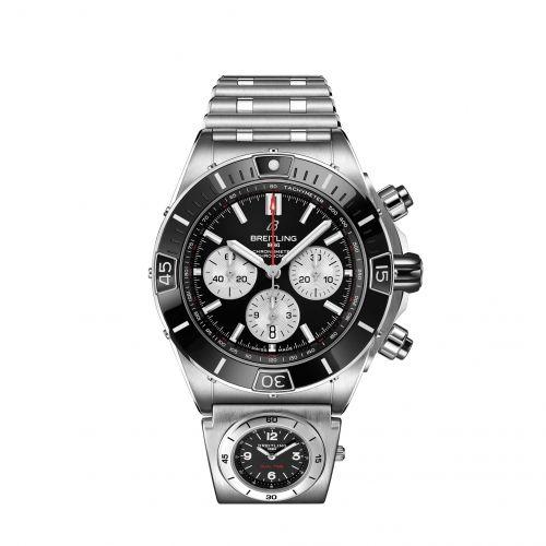 Super Chronomat B01 44 Stainless Steel / Black / Rouleaux - UTC