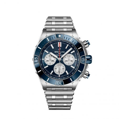 Super Chronomat B01 44 Stainless Steel / Blue / Rouleaux