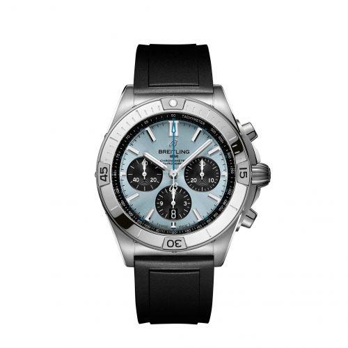 Chronomat B01 42 Stainless Steel / Platinum / Ice Blue