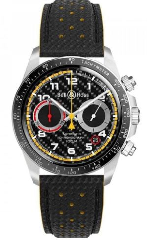 Gents Limited Edition Bell & Ross Leather Strap Watch