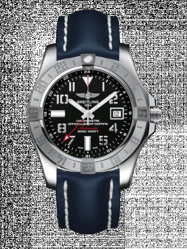 Avenger II GMT Stainless Steel / Volcano Black / Calf / Pin