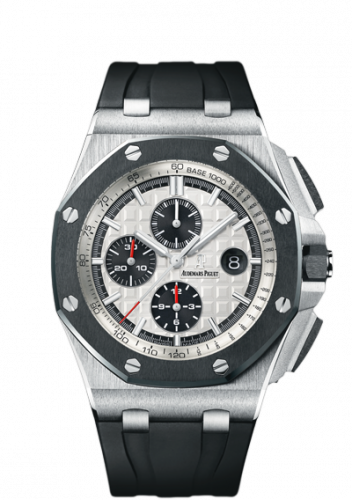 Royal Oak Offshore 26400 Stainless Steel / Ceramic / Silver / Rubber