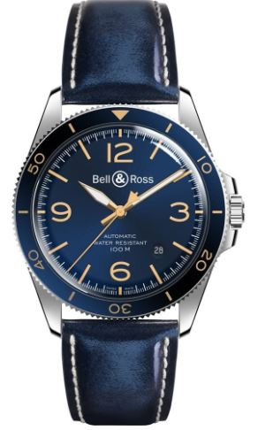 Gents Bell & Ross Leather Strap Watch