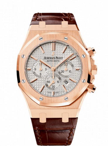 Royal Oak Chronograph 41 Pink Gold / Silver / Strap