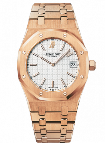 Royal Oak Extra-Thin Pink Gold / Silver