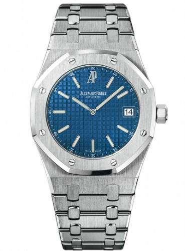 Royal Oak Extra-Thin Stainless Steel / Blue
