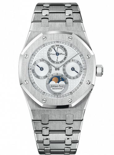Royal Oak Perpetual Calendar Stainless Steel / Platinum / Silver