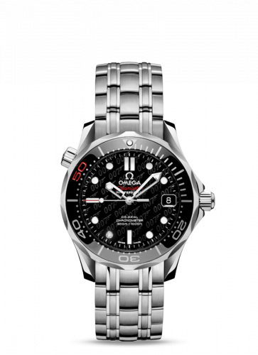 Seamaster Diver 300M Co-Axial 36.25 Stainless Steel / Black / Bracelet / James Bond 50th Anniversary