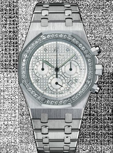 Royal Oak Chronograph 39 White Gold / Diamond Bezel / Silver