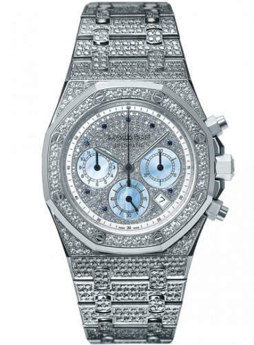 Royal Oak 25978 Chronograph White Gold / Diamond / Silver