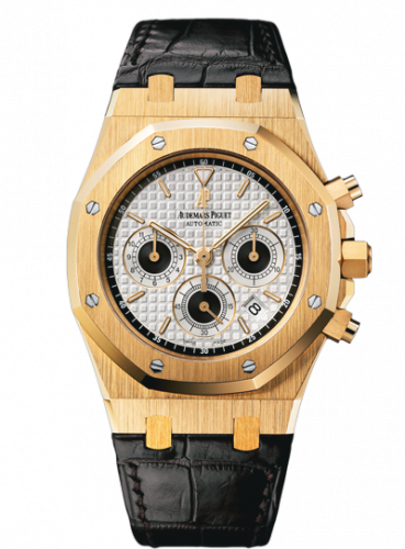 Royal Oak 26022 Chronograph Yellow Gold / Silver / Strap