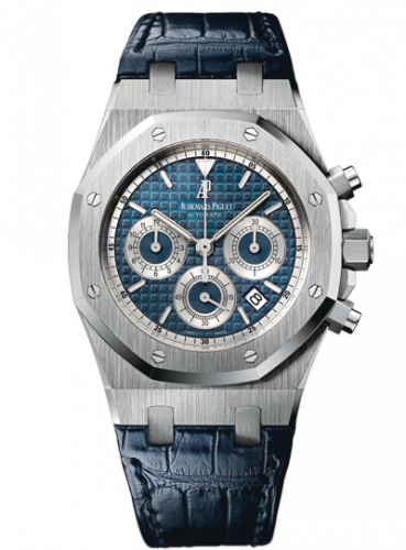 Royal Oak 26022 Chronograph White Gold / Blue / Strap