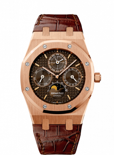 Royal Oak Perpetual Calendar Pink Gold / Brown / Strap