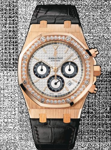 Royal Oak 26557 Chronograph Pink Gold / Silver / Diamond