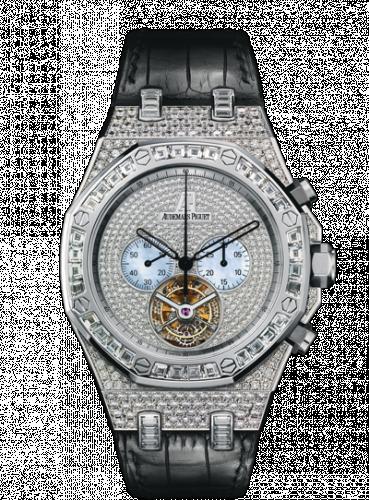 Royal Oak Tourbillon Chronograph White Gold / Diamond / Strap