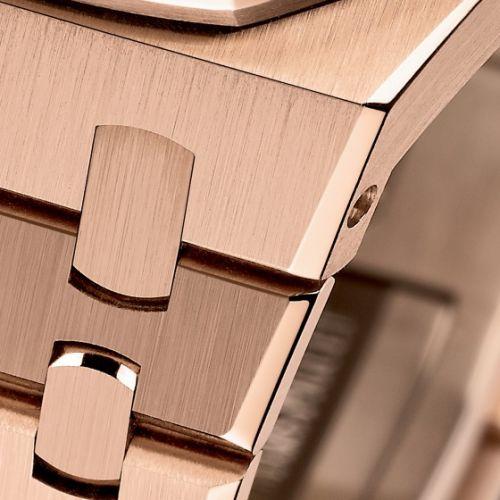 Royal Oak 15400 Pink Gold / Silver