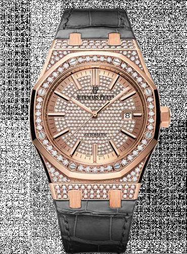 Royal Oak 15402 Pink Gold / Diamond