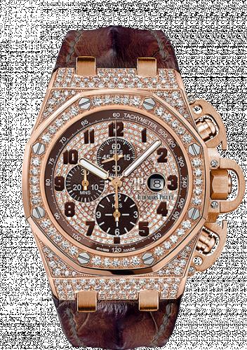 Royal Oak OffShore 26215 T3 Pink Gold / Diamond