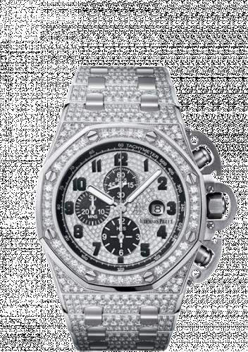Royal Oak OffShore 26215 T3 White Gold / Diamond / Bracelet