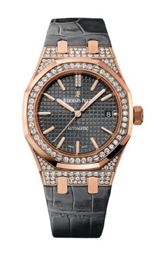 Royal Oak 15452 Selfwinding Pink Gold / Slate / Strap