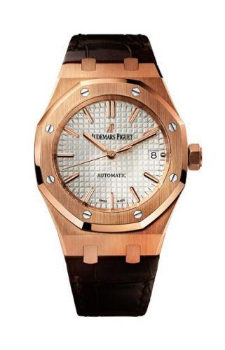Royal Oak 15450 Selfwinding Pink Gold / Silver / Strap