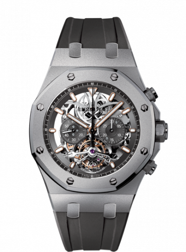 Royal Oak 26347 Tourbillon Chronograph Openworked Titanium