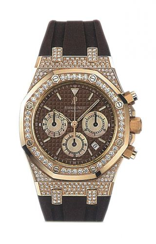 Royal Oak 26129 Chronograph Pink Gold / Brown