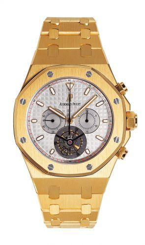 Royal Oak 25977 Chronograph Tourbillon Yellow Gold / Silver