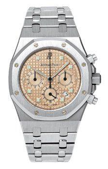 Royal Oak 25960 Chronograph White Gold / Salmon