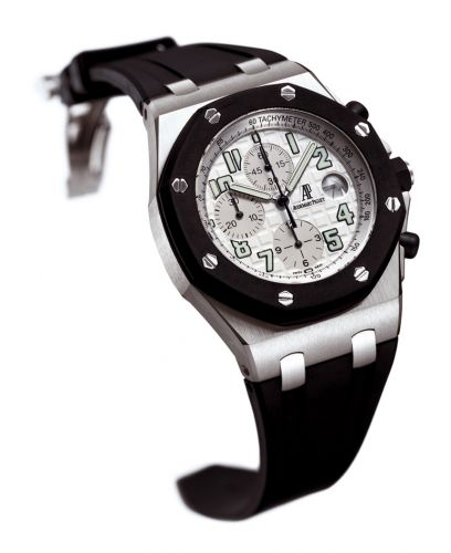 Royal Oak OffShore 25940 Chronograph Rubberclad Stainless Steel / Silver