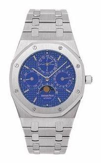 Royal Oak 25820 Perpetual Calendar Platinum / Blue