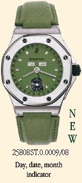 Royal Oak OffShore 25808 Full Calendar Green