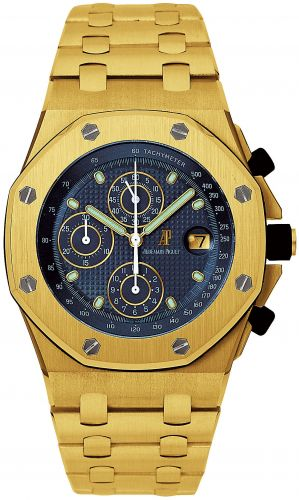 Royal Oak OffShore 25721 Chronograph Yellow Gold / Blue