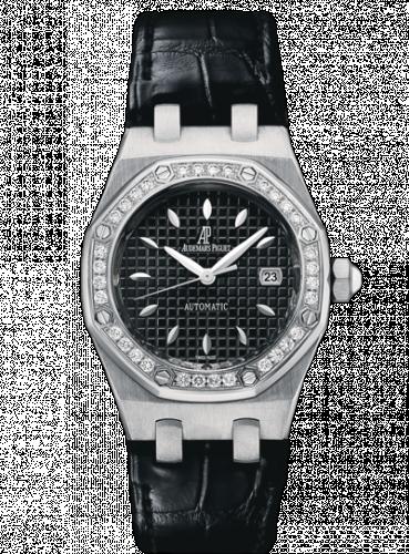 Royal Oak Selfwinding 77321 Stainless Steel / Diamond / Black / Alligator
