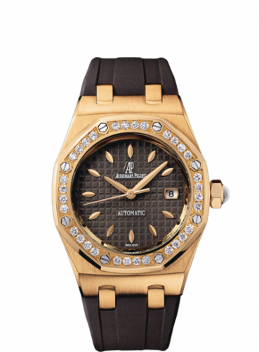 Royal Oak Selfwinding 77321 Pink Gold / Diamond / Brown / Rubber