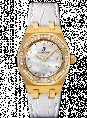 Royal Oak Selfwinding 77321 Yellow Gold / Diamond / MOP / Alligator